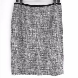Willi Smith B&W Classic Career Pencil Skirt Size 8